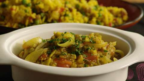 Indian Eggplant Bhurtha