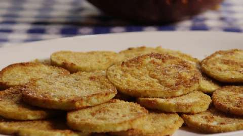 how to deep fry breaded eggplant