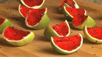 Sliced Watermelon Jell-O Shots