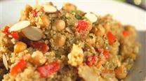 Curried Quinoa with Garbanzos and Peppers