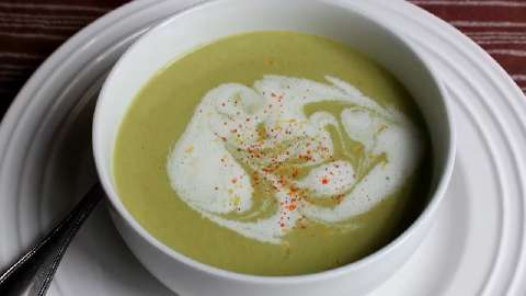 Creamy Asparagus and Cauliflower Soup VideoAllrecipes.com
