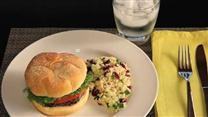 Portobello Burgers with Quick Couscous Salad