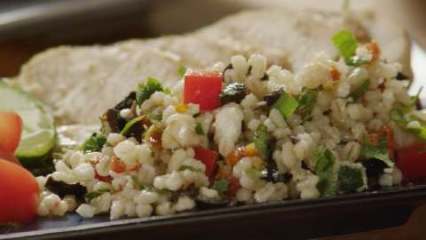 mediterranean barley salad a chilled grain salad with sun dried ...
