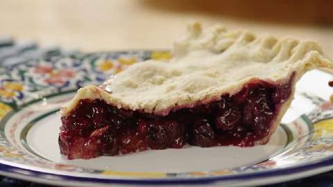 Blackberry and Blueberry Pie