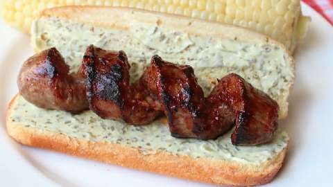 Curly-Q Grilled Sausages