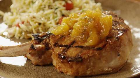 Tropical Grilled Pork Chops Recipe