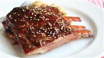 Root Beer and Sesame Glazed Ribs