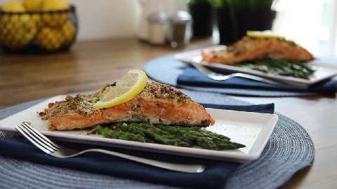 baked dijon salmon video. Black Bedroom Furniture Sets. Home Design Ideas