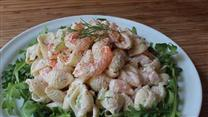 Shrimp and Pasta Shells Salad