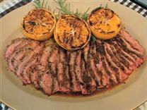 Grilled Garlic Fennel Flank Steak with Oranges