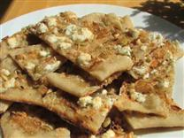 Pumpkin Seed Flatbread with Sweet Onions & Feta