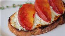 Peach and Goat Cheese Tartine