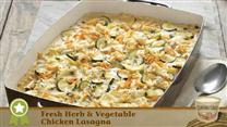 Fresh Herb & Vegetable Chicken Lasagna