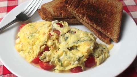 Scrambled Eggs With Sun-Dried Tomatoes And Feta Recipe ...