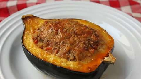 wild rice stuffed acorn squash stuffed acorn squash with wild rice ...