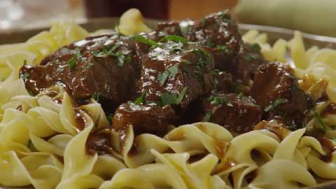 Easy beef tips and noodle recipe