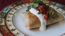 Chicken and Mushroom Chimichangas