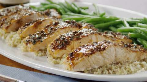 balsamic salmon fillets glazed salmon recipe balsamic glazed salmon ...