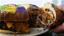 Giant King Cake Burger