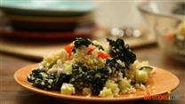 Kale, Quinoa, Avocado Salad with Dijon Dressing