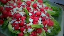 Watermelon, Feta and Cashew Salad