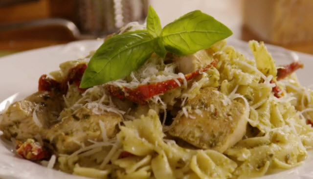 Recipe for basil pesto chicken pasta