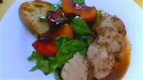 Roasted Pork Tenderloin with Glazed Peaches
