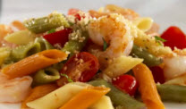 Tri-Color Penne Pasta Salad with Shrimp