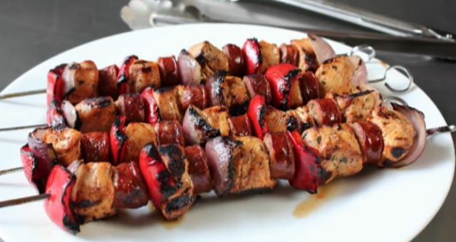 Chef John's Chorizo and Chicken Skewers