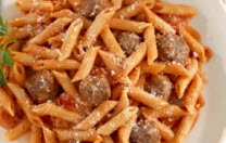 Mini Penne with Meatballs