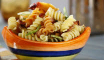 Pasta Salad with Peaches and Basil