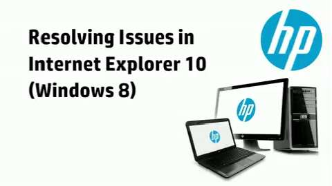 Resolving Issues in Internet Explorer 10
