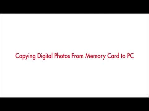 Copying Digital Photos to Your PC
