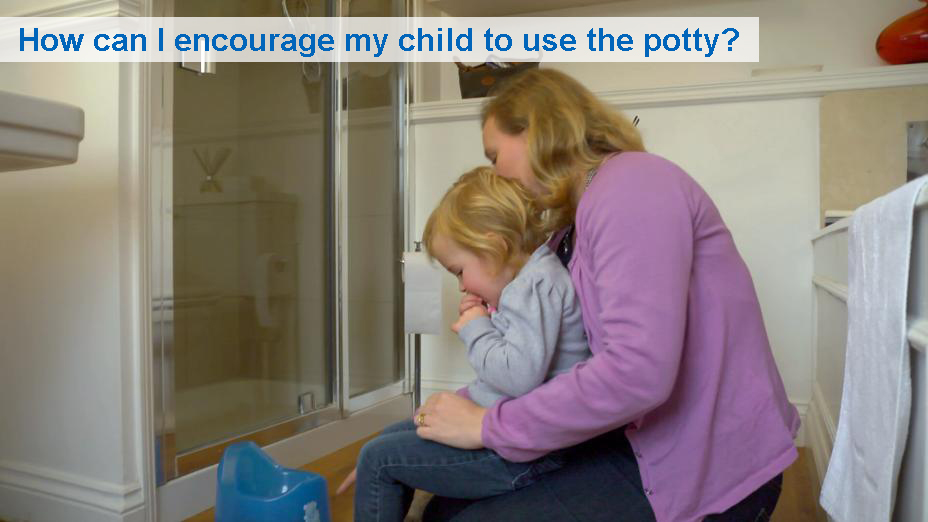 How can I encourage my child to use the potty?