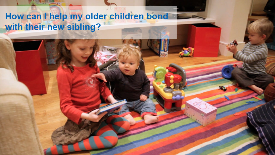 How can I help my older children bond with their new sibling?