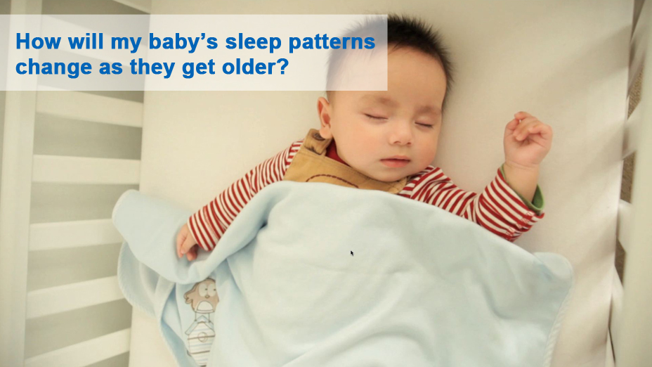 How will my baby's sleep patterns change as they get older?