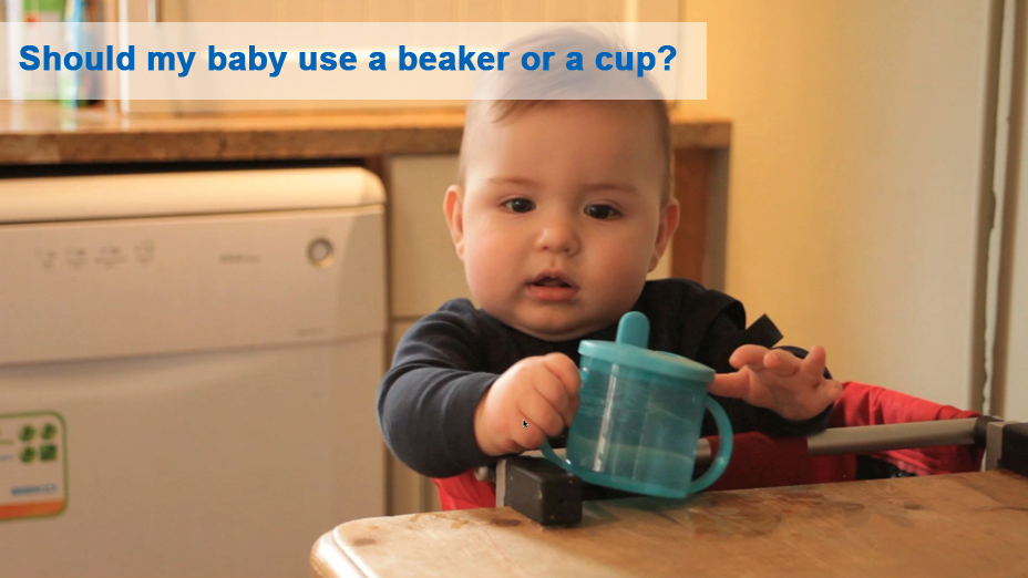 Should my baby use a beaker or a cup?