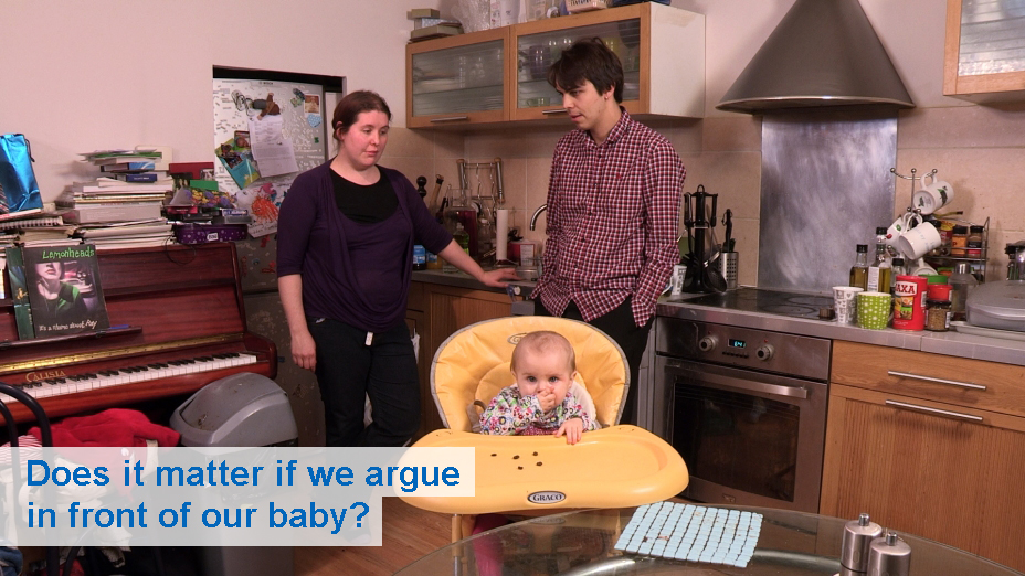 Does it matter if we argue in front of our baby? (from 6 months)