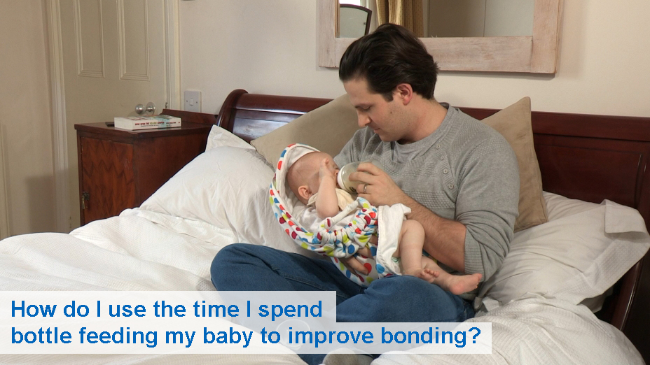 How do I use the time I spend bottle feeding to help me bond with my baby?