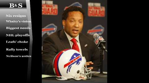 News Sports Columnists Bucky Gleason and Jerry Sullivan discuss the Bills new general manager during their live show.
