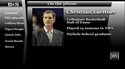News Sports Columnists Bucky Gleason and Jerry Sullivan talk hoops with former Duke star Christian Laettner during their live show.