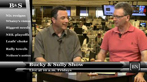 News Sports Columnists Bucky Gleason and Jerry Sullivan discuss a possible golf game during their live show.