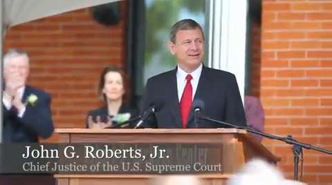 U.S. Supreme Court Chief Justice John G. Roberts Jr. this morning called on lawyers and judges across the country to follow the legacy of another Supreme Court justice with Western New York roots, Robert H. Jackson.