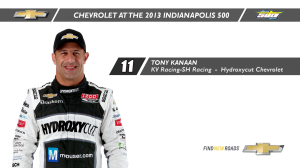 INDYCAR: Indy 500 History Lessons - Tony Kanaan