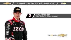 INDYCAR: Indy 500 History Lessons - AJ Allmendinger