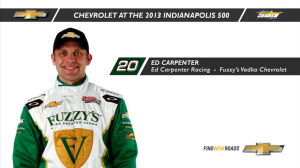 INDYCAR: Indy 500 History Lessons - Ed Carpenter
