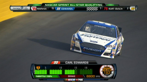 CUP: Carl Edwards Earns All-Star Pole - 2013