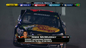 CUP: McMurray Wins, Stenhouse Jr. Advances - Sprint Showdown 2013
