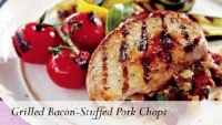 Grilled Bacon-Stuffed Pork Chops
