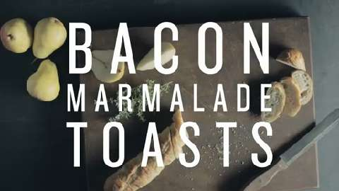 Bacon Marmalade Toasts by PC® BLACK LABEL COLLECTION
